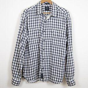 Lucky Brand Black & White Plaid Flannel XXL
